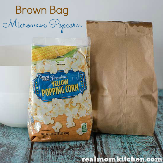 Brown Bag Microwave Popcorn   realmomkitchen.com