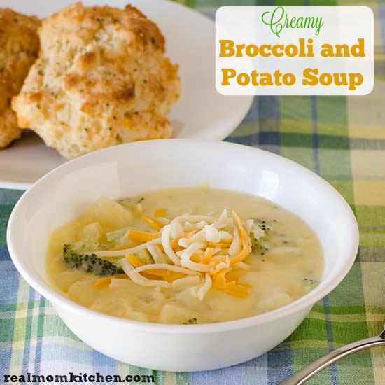 Creamy Broccoli and Potato Soup | realmomkitchen.com