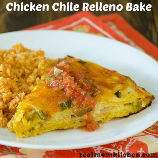 Chicken Chile Relleno Bake | realmomkitchen.com