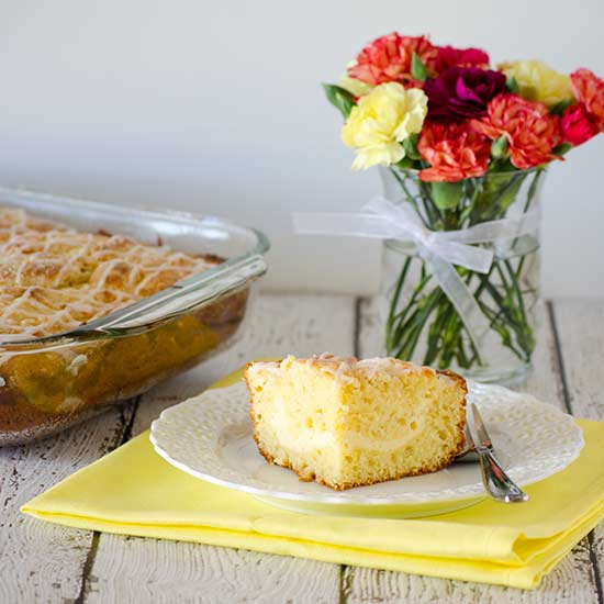 Lemon Cream Cheese Coffee Cake| realmomkitchen.com