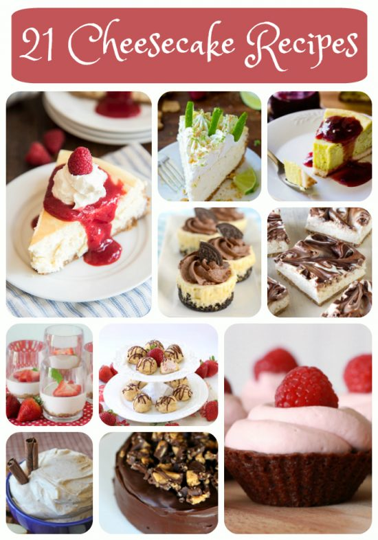 21 Cheesecake Recipes | realmomkitchen.com #nationalcheesecakeday