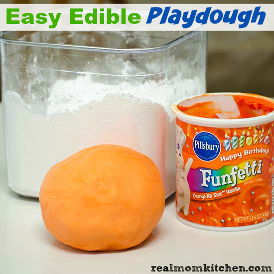 Easy Edible Playdough | realmomkitchen.com