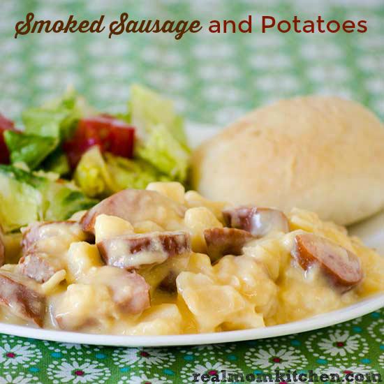 Smoked Sausage and Potatoes   realmomkitchen.com