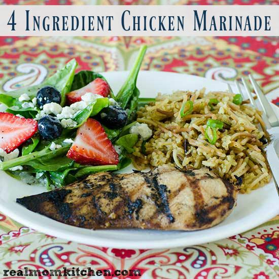 4 Ingredient Chicken Marinade   realmomkitchen.com