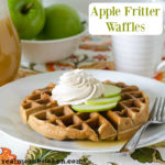 Apple Fritter Waffles with Piced Whipped Cream   realmomkitchen.com