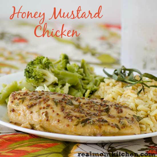 Honey Mustard Chicken   realmomkitchen.com