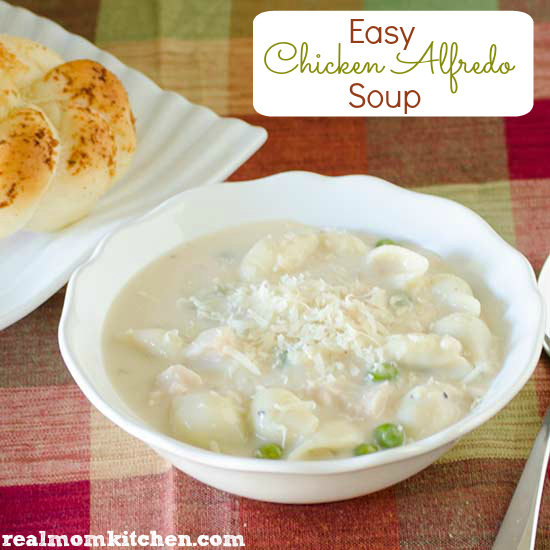Easy Chicken Alfredo Soup | realmomkitchen.com