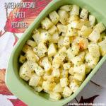 Baked Parmesan Sweet Potatoes | realmomkitchen.com