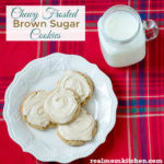 Chewy Frosted Brown Sugar Cookies | realmomkitchen.com