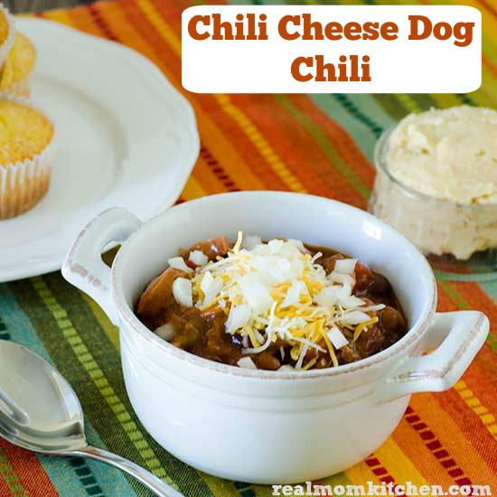 Chili Cheese Dog Chili   realmomkitchen.com