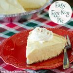 Easy Egg Nog Pie | realmomkitchen.com