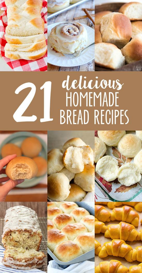 21 Homemad Bread Recipes | realmomkitchen.com