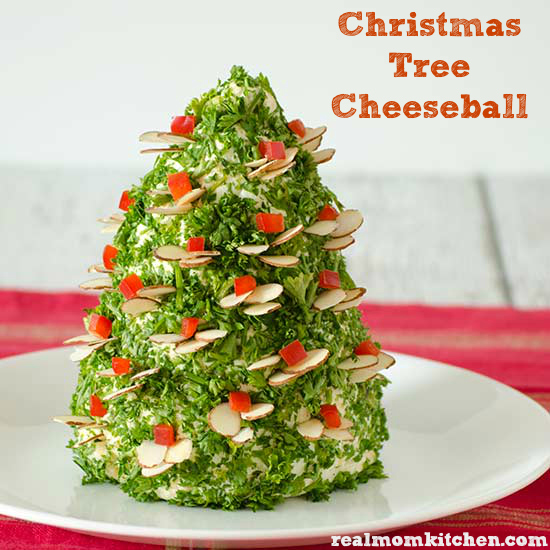 Christmas Tree Cheese Ball | realmomkitchen.com