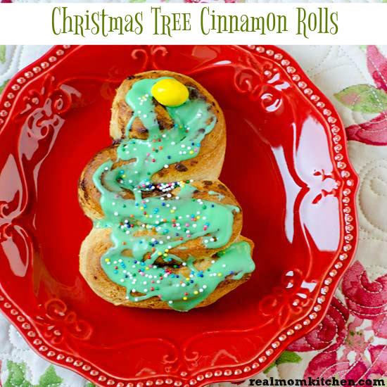 Christmas Tree Cinnamon Rolls   realmomkitchen.com