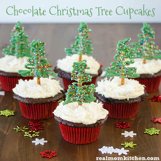 Sugar Water For Christmas Tree: Chocolate Christmas Tree Cupcakes And 13+ Other Cupcake