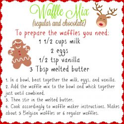 Waffle Mix Instructions - regular or chocolate