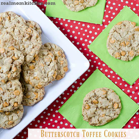 Butterscotch Toffee Cookies   realmomkitchen.com