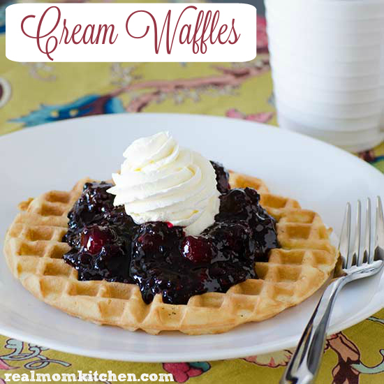 Cream Waffles   realmomkitchen.com
