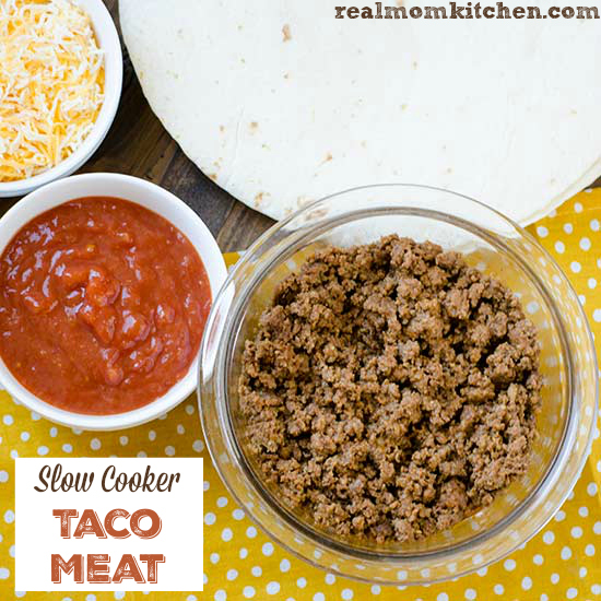 Slow Cooker Taco Meat | realmomkitchen.com