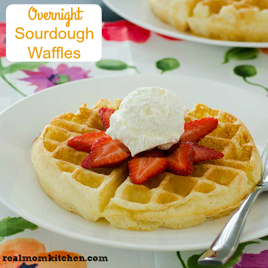 Overnight Sourdough Waffles   realmomkitchen.com
