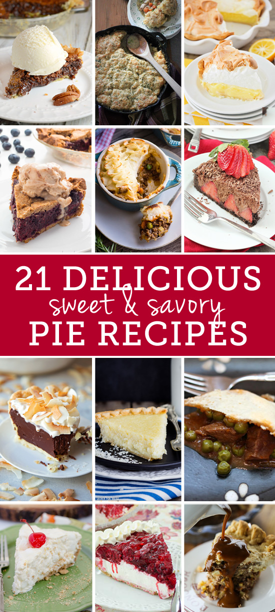 21-delicious-sweet-and-savory-pie-recipes | realmomkitchen.com