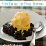 Slow Cooker Hot Fudge Brownies | realmomkitchen.com