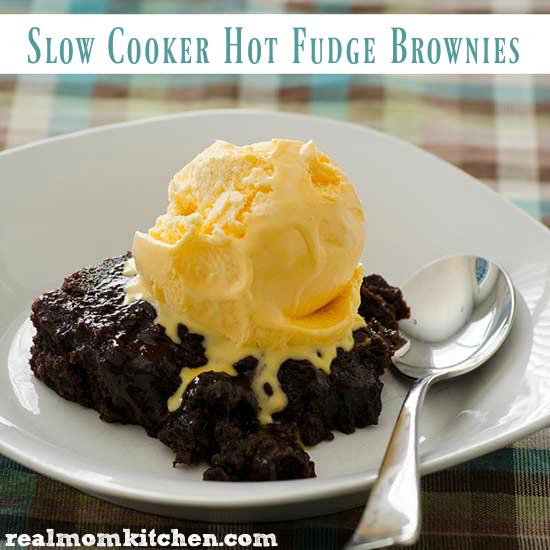 Slow Cooker Hot Fudge Brownies   realmomkitchen.com
