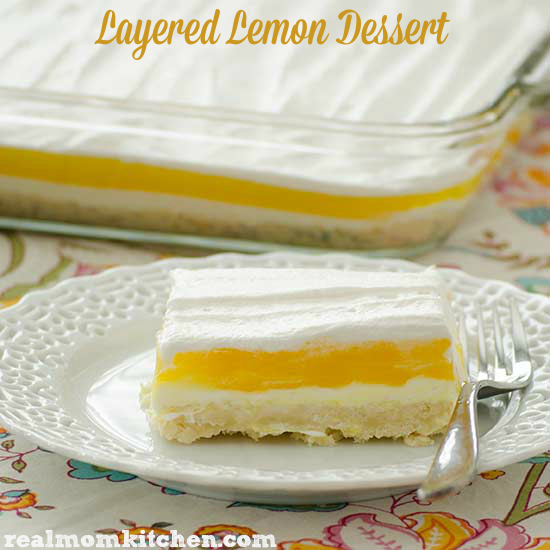 Lemon Layered Dessert | realmomkitchen.com