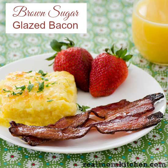 Brown Sugar Glazed Bacon | Real Mom Kitchen