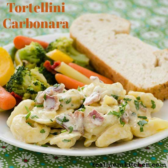 Tortellini Carbonara   realmomkitchen.com