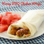 Honey BBQ Chicken Wraps | realmomkitchen.com