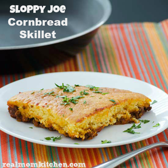 Sloppy Joe Cornbread Skillet | realmomkitchen.com