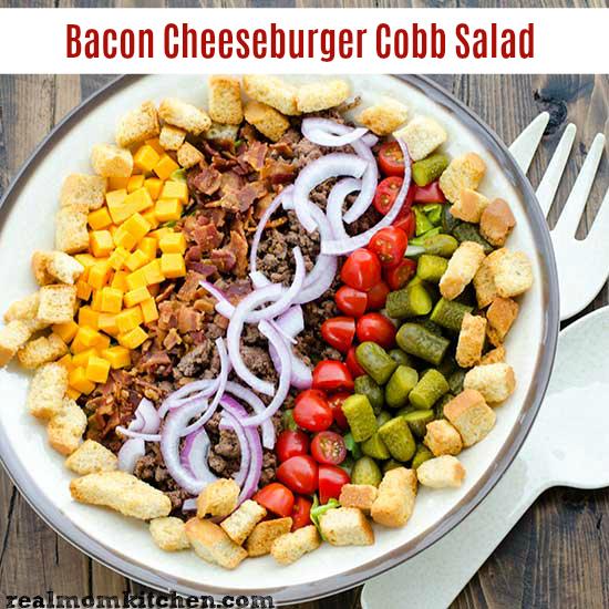Bacon Cheeseburger Cobb Salad   realmomkitchen.com