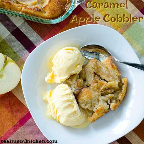 Caramel Apple Cobbler   realmomkitchen.com