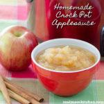 Homemade Crock Pot Applesauce | realmomkitchen.com