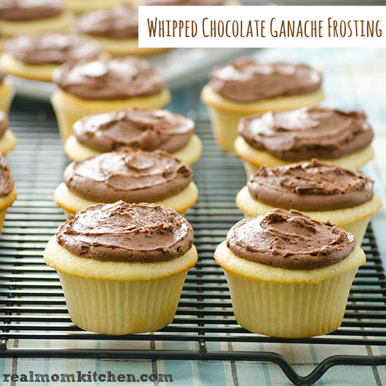 Whipped Chocolate Ganache Frosting | realmomkitchen.com