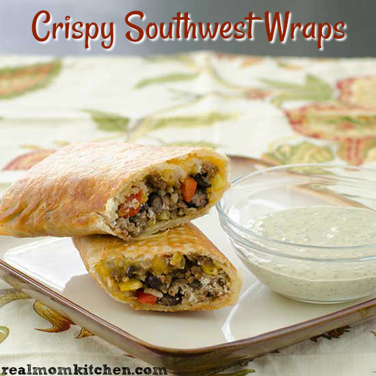 Crispy Southwest Wraps   realmomkitchen.com