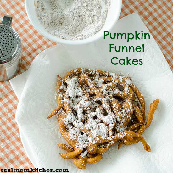 Pumpkin Funnel Cakes | realmomkitchen.com