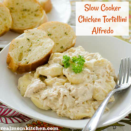 Slow Cooker Chicken Tortellini Alfredo