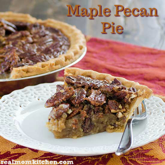Maple Pecan Pie   realmomkitchen.com