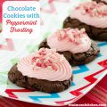 Chocolate Cookies with Peppermint Frosting | realmomkitchen.com