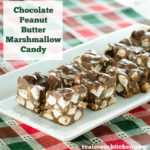 Chocolate Peanut Butter Marshmallow Candy | realmomkitchen.com