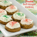 Frosted Soft Ginger Cookies | realmomkitchen.com