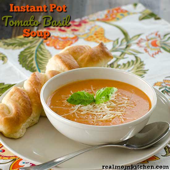 Instant Pot Tomato Basil Soup | realmomkitchen.com