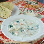 One Pot White Chicken Lasagna Soup | realmomkitchen.com