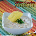 Slow Cooker White Chicken Chili | realmomkitchen.com