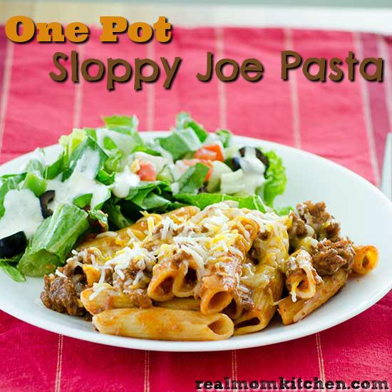 One Pot Sloppy Joe Pasta | realmomkitchen.com