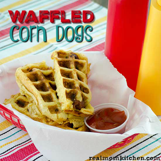 Waffled Corn Dogs | realmomkitchen.com