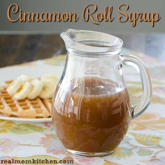 Cinnamon Roll Syrup | realmomkitchen.com