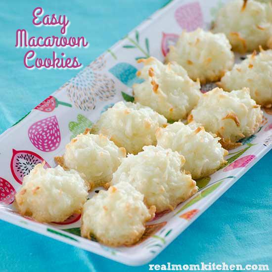 Easy Macaroon Cookies | realmomkitchen.com